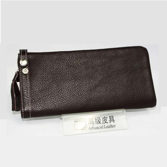 Large soft genuine cowhide leather slim women's wallet long design wallet women's wallet(China (Mainland))