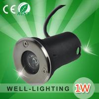 Outdoor LED ground Light + 1Watt + IP67 + DC12V/AC110-240V+ 6 colors for option + 4pcs/Lot+,65x60mm 1W high power  Free shipping