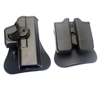 Polymer Retention Roto Right-Handed Tactical Airsoft Holster Fits GLOCK 17/22/31 & Double Mag Pouch 9x19mm ,40S&W ,357SIG