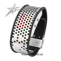 Free Shipping Tokyoflash Shinshoku Style Corrosion LED Watch 29LED 3Color Stainless Steel Bracelet Wrist DT0947