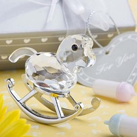 Free Shipping, 50 sets Wedding Decorations Choice Crystal Collection Crystal Rocking Horse Wedding Gifts, On Sale!!!