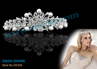 High Quality Bridal Crystal Tiara Crowns,The Bride's Headdress and Crown,Pageant Crown and Wedding crown Tiaras+Free Shipping