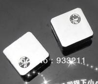 50pcs Square slide charms fit 8mm wristband /belt