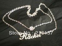 Free Shipping double layer Unique Name Necklaces/925 sterling sillver necklaces/customized Necklace/fashion necklace/lady's gift