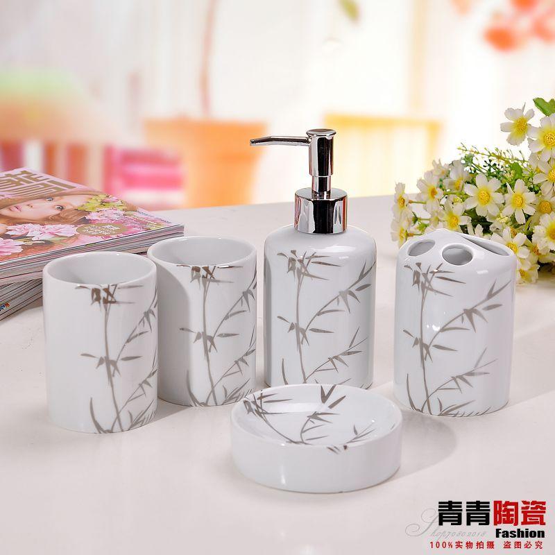 عشاق هدية تصميم مجموعة سيراميك الحمام حمام طقم(China (Mainland))