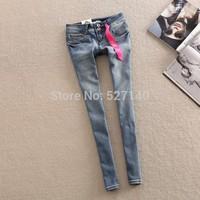 Fornarina 2014 brief all-match slim light blue denim skinny pants women's jeans