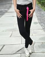 Black wool tight fornarina skinny low-waist jeans female