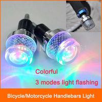 Bike handlebars light motorcycle 3 modes colorful flashing bicycle light cycling LED lamp