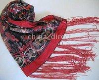 DESIGN COLOR 13pcs/lot Burnout Velvet Silk Shawl Wrap Scarf LOTS