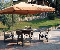 Outdoor Cafe Rattan Armchair Leisure Round Tea Table Sets