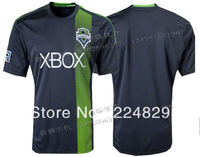 Hot sell 13/14 best thai quality  black Seattle Sounders soccer Jersey,Seattle Sounders football jersey, size:s-xl