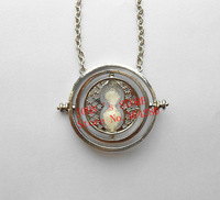 Freeshipping 10PC a lot Time-Turner 18k silver necklace Horcrux fans gifts  NV01