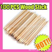 5X100pcs nail art tool orange wood stick nail art orange wood sticks nail art beech stick nail art  free shipping