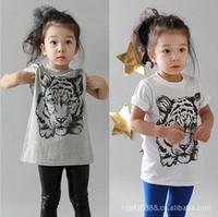 Retail t shirt kids girls children's short-sleeve tshirts kid boys Size 1-7Y Short Top T shirt Kids T-shirt Baby Clothing