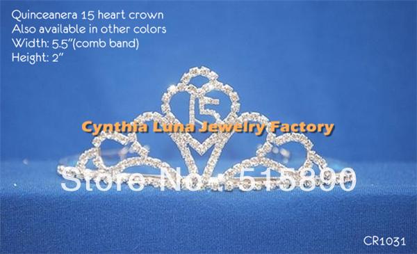 Young Girl Beauty Heart Headband Princess Dress Tiara Party Crown