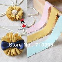 Free shipping Chiffon cloth 950x30mm/pcs Chrysanthemum stripes 30 pcs/lot mix color hair flower accessories baby girl headbands