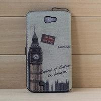 Free Ship Retro Big Ben Pattern Best Vintage Leather Wallet Luxury Case For Samsung Galaxy Note 2 N7100 PU Phone Bag Case