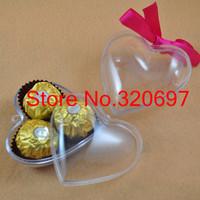Free  Shipping!10pcs/Lot 8cm transparent heart christmas ball, clear plastic ball wedding decoration ball
