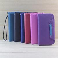 Cheap Best Designer Dull Polish Phone Handbag Wallet Case Flip Cover For Samsung Galaxy S4 S IV i9500 Mobile Phone Accessory