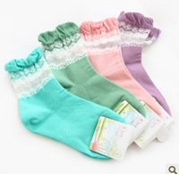88 ! fresh gauze laciness , patchwork women's socks short stockings
