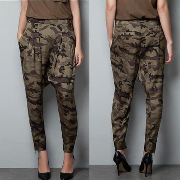 брюки хаки женские