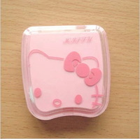 Hello Kitty Contact lenses companion box cartoon contact lens case pupil storage box free shipping