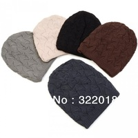 10pcs 2013NEW Men Knit Beanie Skull Hat Mens Winter Crochet Skullies Caps Women Knitted Beanies Hats Womens Autumn Ear Cover Cap