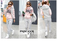 free shipping 2452 3pcs in one set winter active novelty women sport set suit wearing causal famous brand fashion wholesale new
