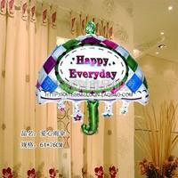 New arrival love umbrella aluminum balloon birthday gift decoration supplies