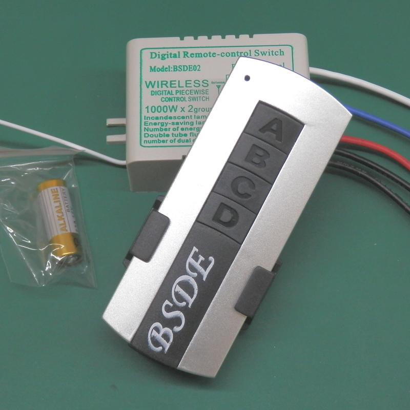Shengde bsde02 220v wireless remote control switch lamps dual remote control switch(China (Mainland))