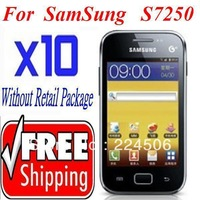 10x Grade Ultra CLEAR Screen Protector Guard Film FOR SAMSUNG WAVE M S7250 + cleaning cloth free shipping
