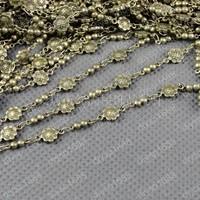 Free Shipping Wholesale DIY Antique Bronze Vintage Copper Necklace Bracelete Making Plum Link Chain Handmade Accessories 1M