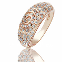 2015 Factory price Hot promotion top quality 18K gold plated rings for women Austrian crystal fashion wedding jewelry R069
