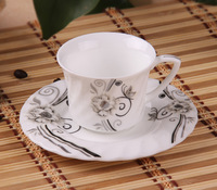 Ceramic cup and saucer coffee cup and saucer set isonuclear allocytoplasmic fashion quality tea cup and saucer bone china coffee
