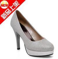 size34-39 2013 women's autumn black gold silver platform high-heeled party wedding dress shoes lady pumps hh192