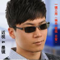 Box eyeglasses frame myopia tr90 male glasses frame magnet polarized night vision clip 6052