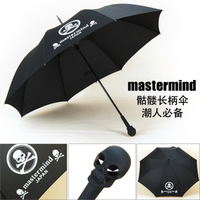 Fashion skull umbrella black skull handle straight umbrella manual umbrella