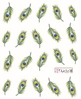 New arrival 20pcs/lot Feather sticker Nail Tattoo for nai sticker nail art decorations  .freeshipping