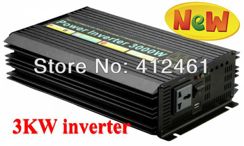 US-STOCK 6000W PEAK 3000W Modified Sine Wave Power Inverter 24V DC Input /110-120V AC Output 60Hz,DC to AC Adapter