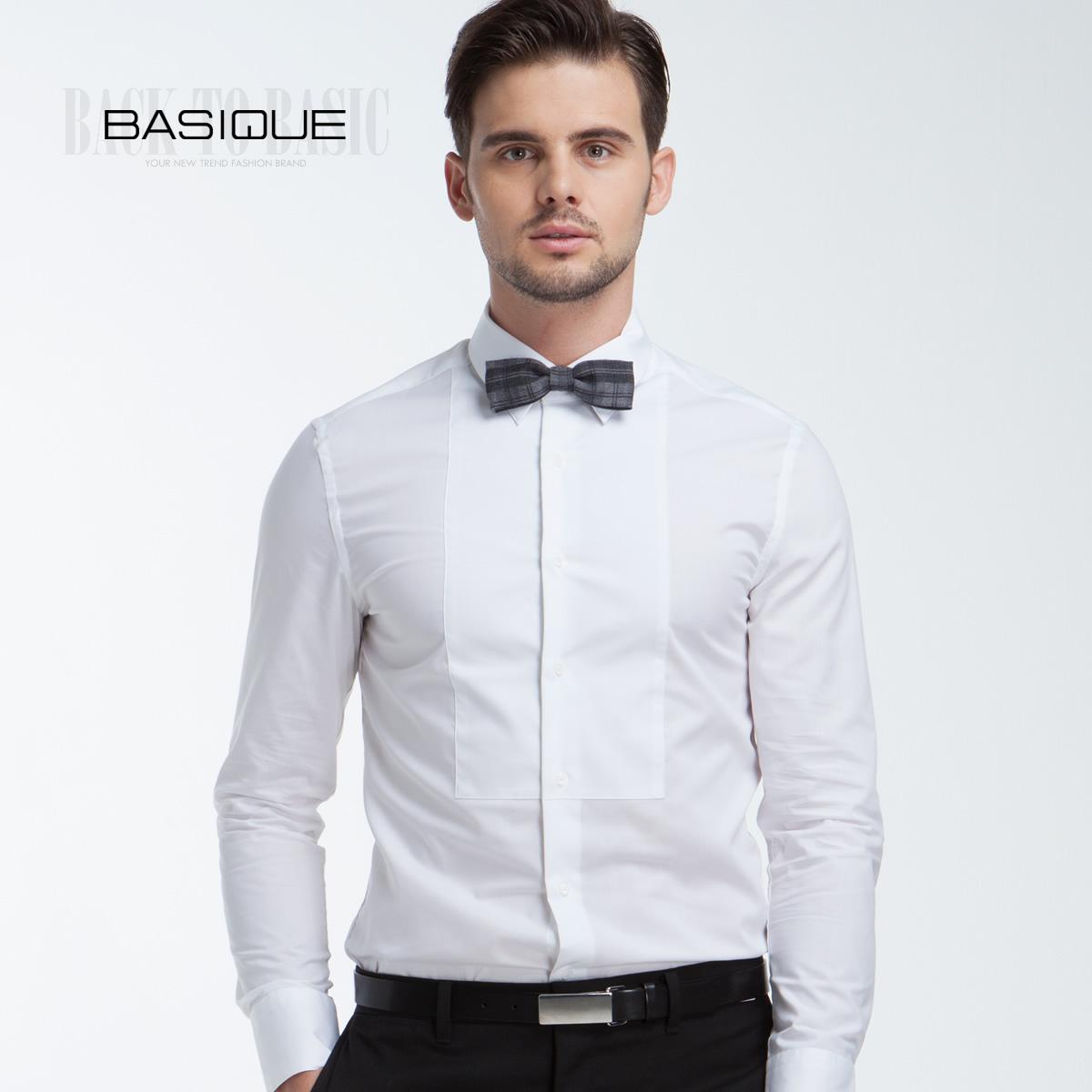 White Dress Shirt For Men Basique-book-men-s-clothing- ...