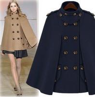 2013 spring women's fashion woolen cloak woolen overcoat british style cape outerwear winter female