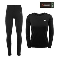 815 outside sport underwear quick dry perspicuousness quick-drying thickening fleece thermal autumn and winter Women set