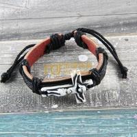 12pcs Cheap Sales Nepal Jewelry Cowhide Bracelet Recommend Genuine Leather Bangle God Cross B0217