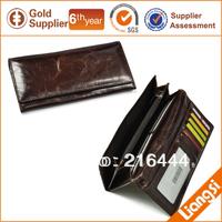100% genuine leather long zipper wallet, fashion women wallet, 2014 lady wallet free shipping