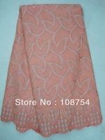 swiss voile lace, fabric,african cloth, 5yards/pc, free shipping, new design, J129-5peach