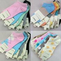 FREE SHIPPING 100% cotton Lady socks slippers mix wholesale