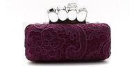 New Vintage Skull Purse Women Fashion Handbag Lace Evening Bag Women Day Clutch Promotion B22