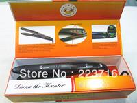 "NEW 360 ROTATING 1"" Professional Vibrate Plate Nano Titanium Ceramic Hair  Straightening Flat Iron Black 110v-240v Free Shipping"
