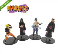 Free Shipping High Quality Japanese Anime NARUTO Uzumaki/Sasuke /Uchiha Madara Figure Set of 4pcs #05