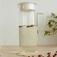 1.5 handmade high temperature resistant glass canisters cool water pot aqueoglacial pot belt lid brief paragraph